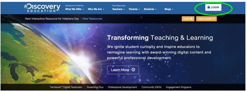 Discovery Education Website