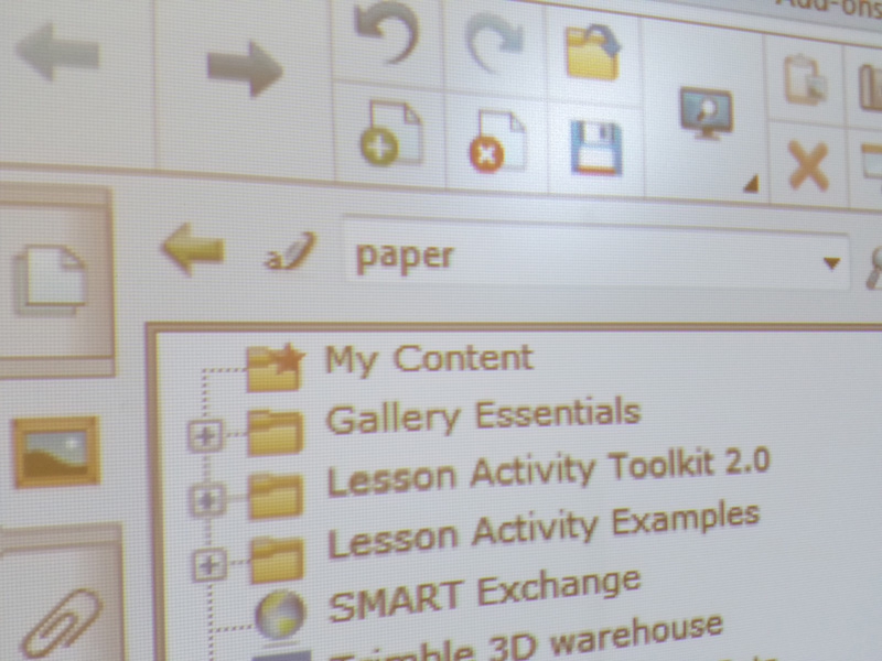 Paper on Smartboard
