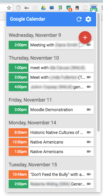 google-calendar-extension