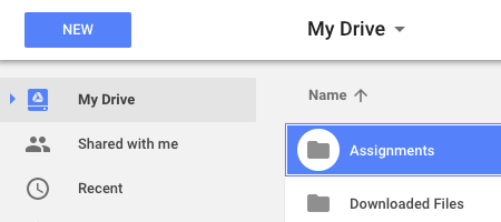 assignments-folder