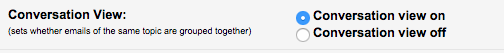 Conversation mode settings menu