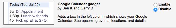 Google calendar lab