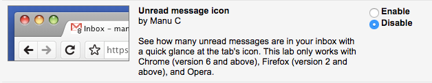 Unread message icon lab