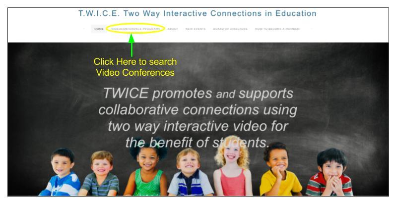 TWICE homepage