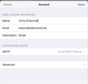 iPhone Mail instructions