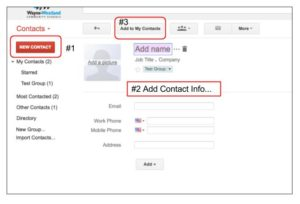 Gmail Contacts Instructions