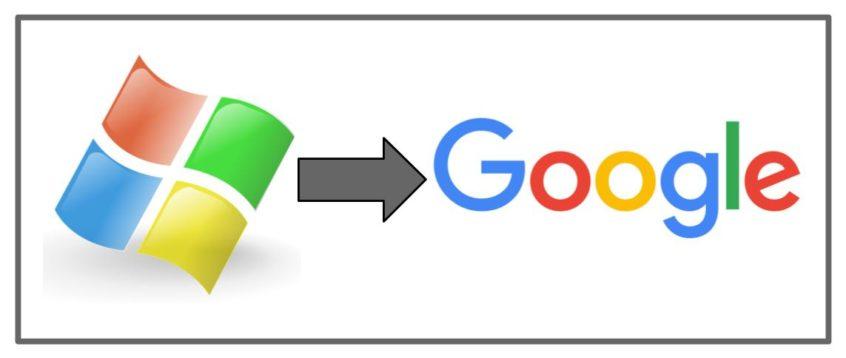 Microsoft Logo to Google