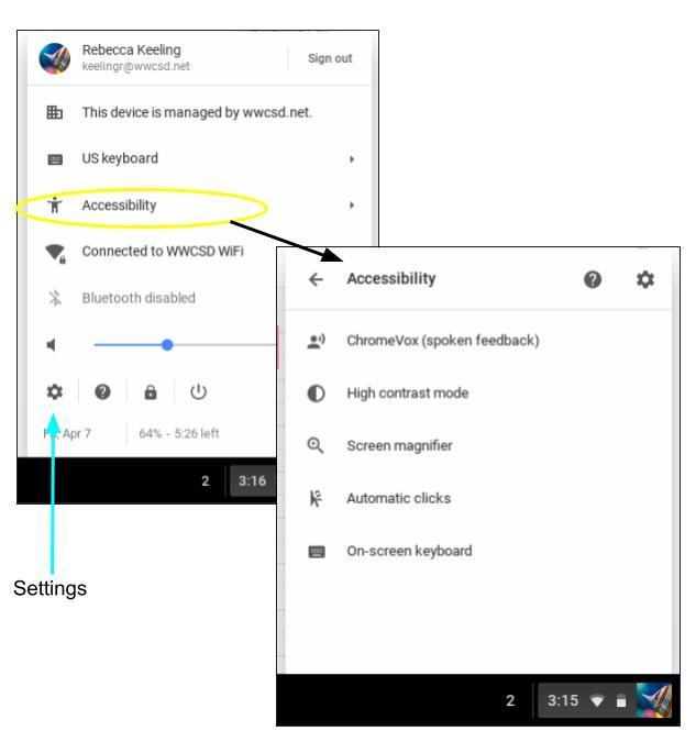 Chrome Device Accessibility