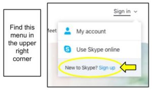 Skype Sign Up