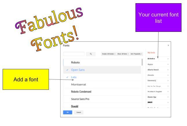 Google Docs Fonts