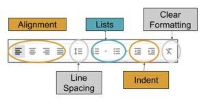 Google Docs Basic Alignment toolbar