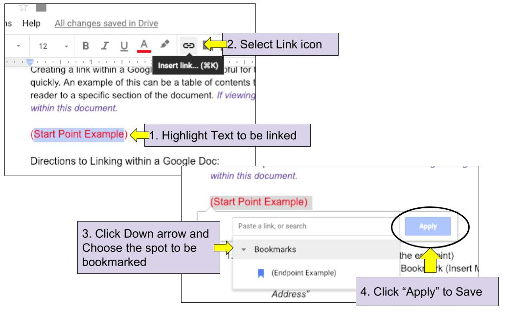 Bokmark Linking in Google Docs