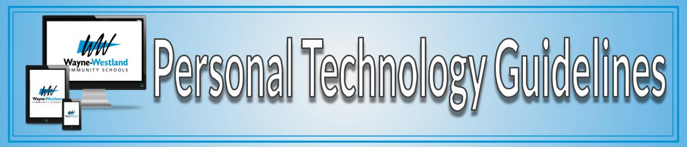 WWCSD Personal Tech Guidelines banner