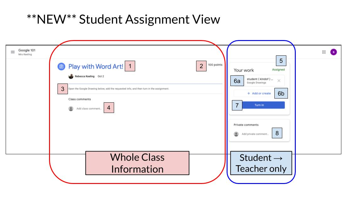 Google Classroom 2019 Update - Student Assignment view