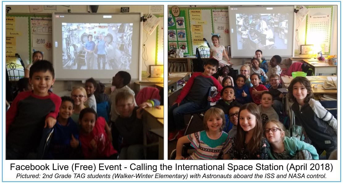 Facebook Live event with ISS class photos