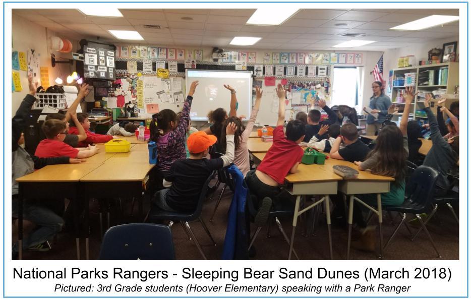 Sleeping Bear Sand Dunes Ranger call