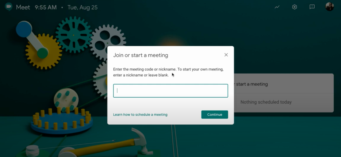 Make a Google Meet with Students