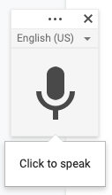 Microphone icon for Google Voice Typing