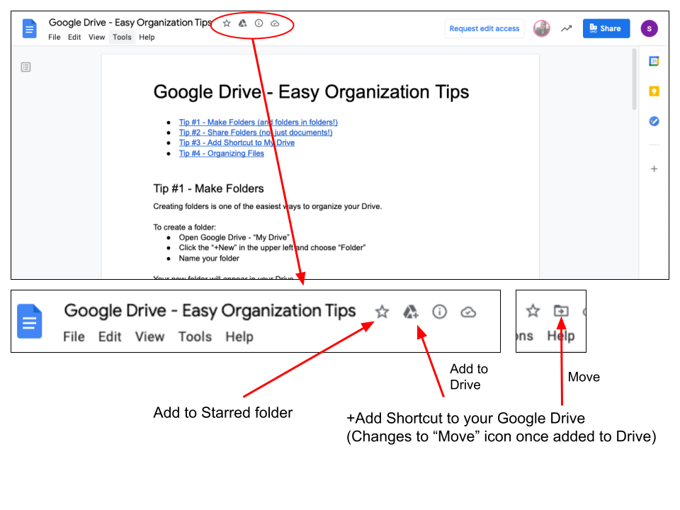 Google Drive - adding shared files to Drive