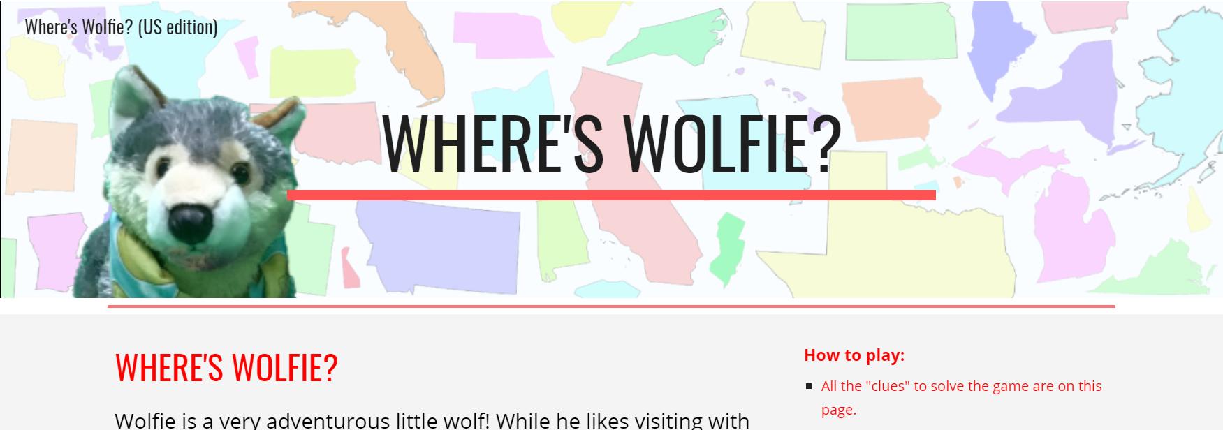 Where's Wolfie Banner